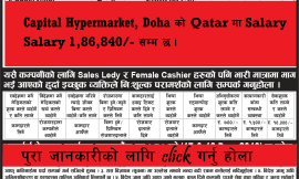 Demand on Capital Hypermarket, Qatar