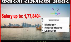 Job Vacancy at Qatar Salary up to 1,77,840/-