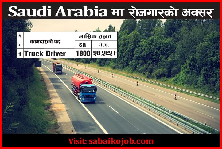 Truck driver at saudi