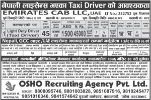 nepali license taxi driver