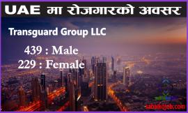 Transguard Group Job Offer for 668 Male / Female, UAE
