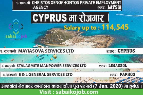 Job Alert ! Job Vacancy Announcement in Cyprus