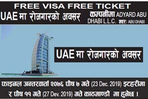 Read more about the article Free Visa/Ticket, job vacancy in UAE