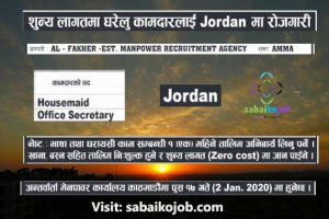 Read more about the article House Maid & Office Secretary needed in Jordan