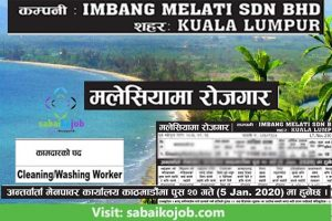 Read more about the article Job Vacancy for Cleaning/Washing Worker in Malaysia