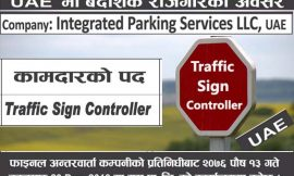 Vacancy For Traffic Sign Controller in UAE