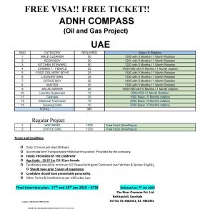 Read more about the article Free Visa ! Free Ticket | Vacancies at Oil & Gas Project at UAE
