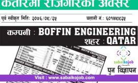 Job at Boffin Engineering in Qatar