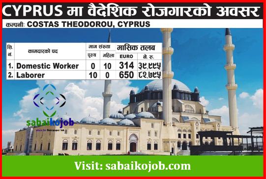 Job Vacancy at Cyprus Salary up to 82,795/-