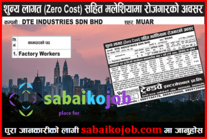 Read more about the article Zero Cost Apply for Malaysia   Vacancies for Factory Worker