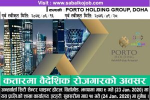 Read more about the article Job at Porto Holding Group, Doha