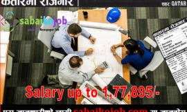 Job in Qatar at Various Post | Salary up to 177,895/-
