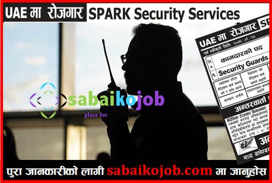 Job in UAE | Vacancies for 100 Security Guard