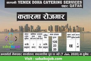 Read more about the article Job at Yemek Doha Catering Services,Qatar