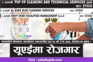 Read more about the article Job at Cleaning Company in Dubai