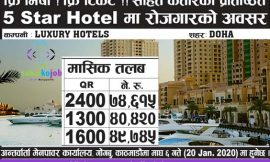 Job at Qatar | Luxury  Hotels | Free Visa !! Free Tickets