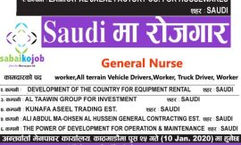 Different jobs available in Saudi