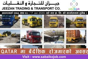 Read more about the article Job at Qatar | Jeezan Trading & Transport CO.