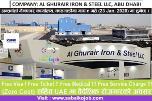 Read more about the article Job at UAE | Free visa, ticket, medical, service charge