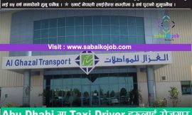 Job For Taxi Driver in Abu Dhabi