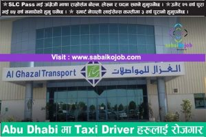 Read more about the article Job For Taxi Driver in Abu Dhabi