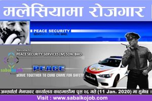 Read more about the article Job at Malaysia | Peace Security services(M) sdn bhd, Selangor
