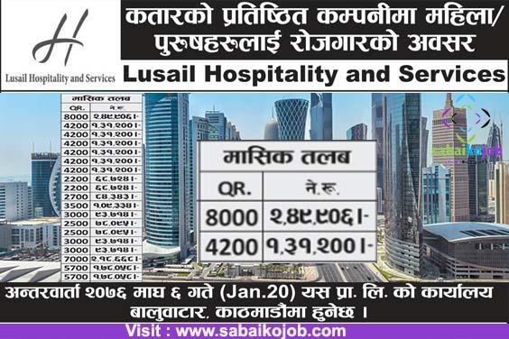 Job at Qatar | Lusail Hospitality and Service