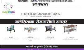 Job at Synway Furniture Industries Sdn. Bhd Malaysia