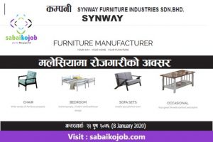 Read more about the article Job at Synway Furniture Industries Sdn. Bhd Malaysia