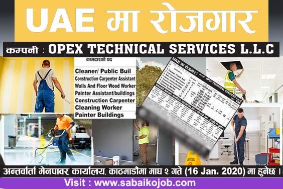 Job at UAE | Opex Technical Services L.L.C
