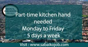 Read more about the article Kitchen hand needed for partime