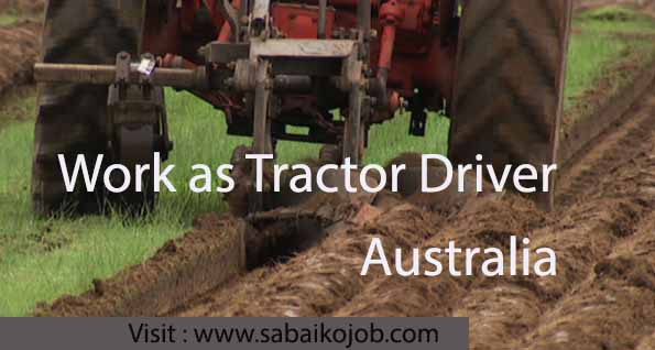 work as tractor driver in australia