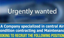 Job at air condition contract & maintenance company in kuwait