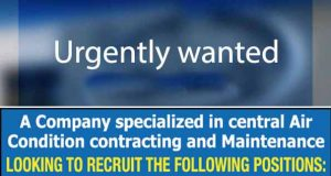 Read more about the article Job at air condition contract & maintenance company in kuwait