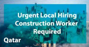 urgent local hiring construction worker