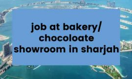 Job at Bakery/Chocolate Showroom in Sharjah
