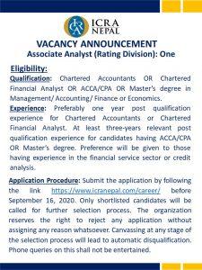 vacancy announcement 1
