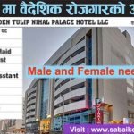 Job in Hotel at UAE for 110 Male and Female