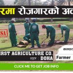 Vacancy at First Agriculture Co. Doha