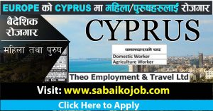Read more about the article Agriculture and Domestic Worker needed in Cyprus