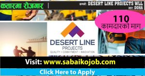 Read more about the article Job Vacancy at DESERT LINE PROJECTS WLL DOHA