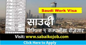 Read more about the article Job at 9 Different Company of Saudi Arabia