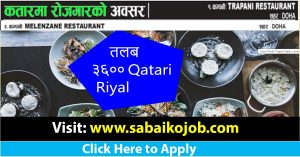 Read more about the article Job at different Restaurant of Qatar