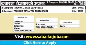 Read more about the article Job vacancy at Cafeteria and Restaurant