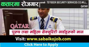Read more about the article Job at TEYSEER SECURITY SERVICES CO.WLL. QATAR