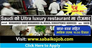Read more about the article Kitchen Worker