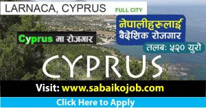 Read more about the article Career Opportunity in Cyprus