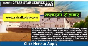 Read more about the article Job Vacancy at QATAR STAR SERVICE LLC DOHA