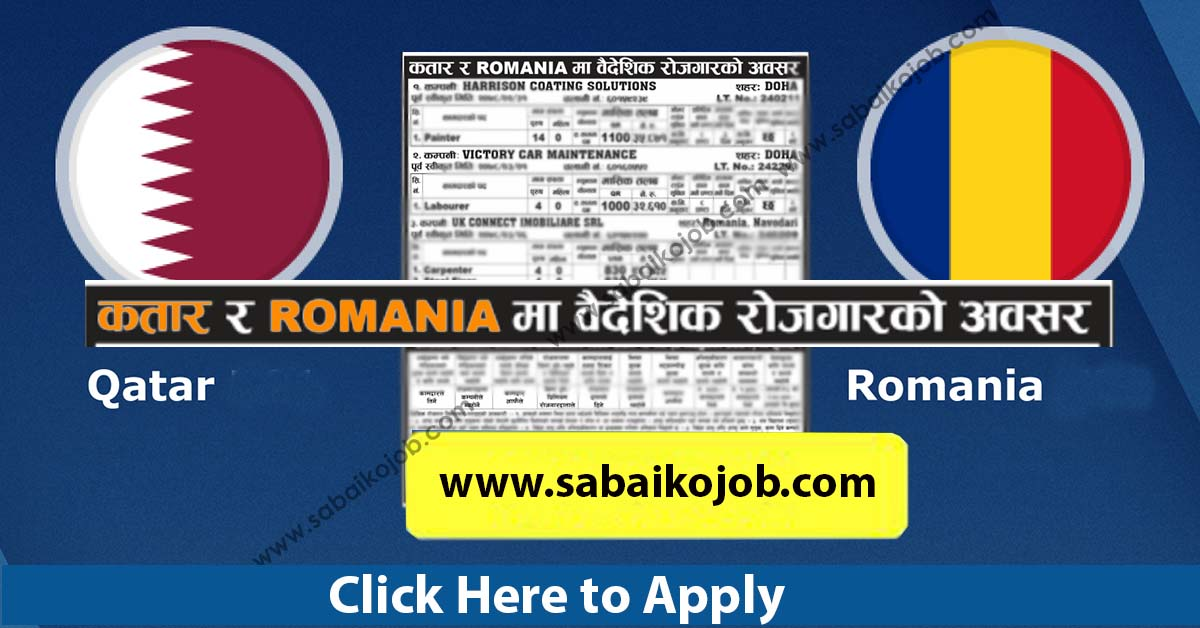 Read more about the article Jobs in Qatar and Romania