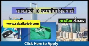 Read more about the article Jobs in 10 different company of Saudi Arabia